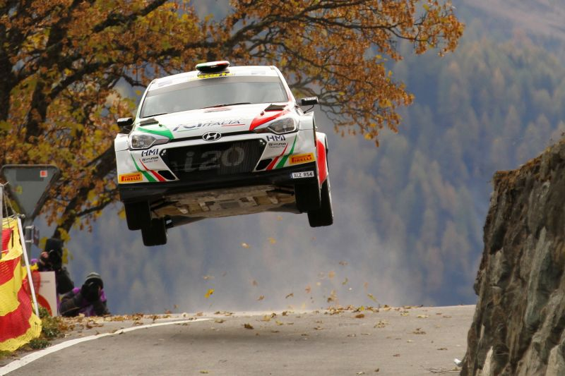 Fabio Andolfi fighting at the forefront in Rallye Int. du Valais