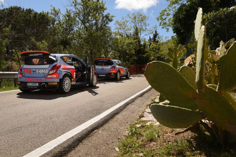 HMI at Rallye Elba with two Hyundai i20 WRC