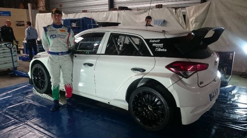 The Hyundai New Generation i20 R5 of HMI set for its World Championship debut in Corsica with Fabio Andolfi