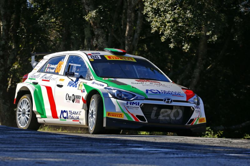 Fabio Andolfi at Rallye Int. du Valais with Hyundai i20 R5 HMI / ACI Team Italia